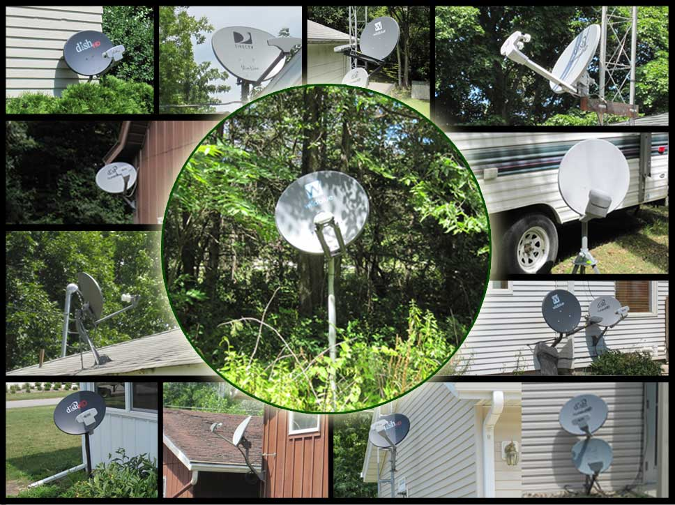 Satellite Dish Installation Examples